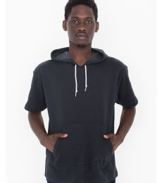 FS424 American Apparel French Terry Short Sleeve Kangaroo Hoody