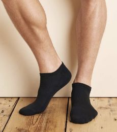 Gildan GP711 Platinum No Show Socks (Black)