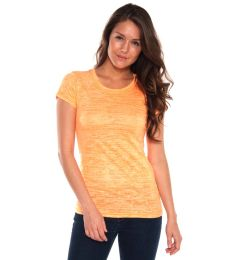 H03 In Your Face Apparel Women's Jr. Neon Burnout Crew