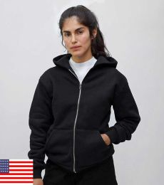 Los Angeles Apparel HF10/Heavy weight Fleece Zip up Hood HF10LO