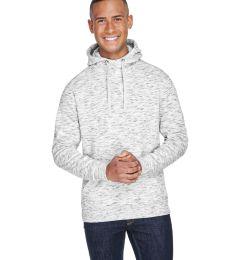 J America 8677 Melange Fleece Hooded Pullover Sweatshirt