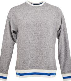 J America 8702 Peppered Fleece Crewneck Sweatshirt