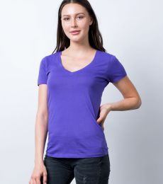 LC1125 Cotton Heritage Juniors V-Neck Tee