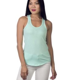 Cotton Heritage LC7706 Juniors Scallop Racerback Tank