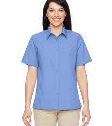 Harriton M545W Ladies' Advantage Snap Closure Short-Sleeve Shirt