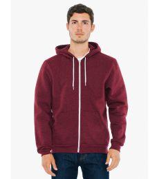 MT497W Unisex Salt And Pepper Hooded Zip Sweatshirt
