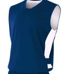 N2349 A4 Drop Ship Adult Reversible Speedway Muscle Shirt