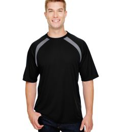A4 Apparel N3001 Men's Spartan Short Sleeve Color Block Crew Neck T-Shirt