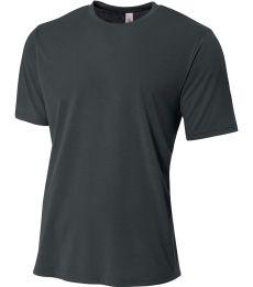 N3264 A4 Drop Ship Men's Shorts Sleeve Spun Poly T-Shirt