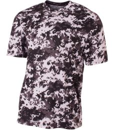 NB3256 A4 Drop Ship Youth Camo Performance Crew T-Shirt