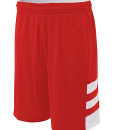 NB5334 A4 Drop Ship Youth 8 Inseam Reversible Speedway Shorts