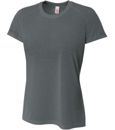 NW3264 A4 Drop Ship Ladies' Shorts Sleeve Spun Poly T-Shirt