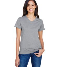 A4 Apparel NW3381 Ladies' Topflight Heather V-Neck T-Shirt