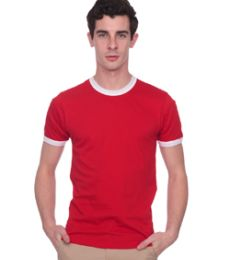 2410 American Apparel Fine Jersey Ringer Tee