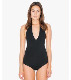 American Apparel RSA8312W Ladies' Cotton Spandex Halter Bodysuit