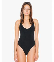 American Apparel RSA8336W Ladies' Cotton Spandex Tank Thong Bodysuit