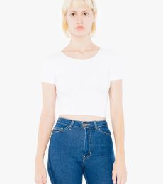 American Apparel SA8380W Ladies' Cotton Spandex Short-Sleeve Crop Top