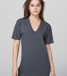 American Apparel 2456 Unisex Fine Jersey V-Neck Tee