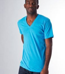 BB456 American Apparel Poly-Cotton Short Sleeve V-Neck