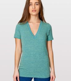 American Apparel TR456 Unisex Tri-Blend Deep V Neck