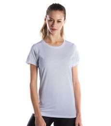 US Blanks US100 Ladies Short-Sleeve Garment-Dyed Jersey Crew