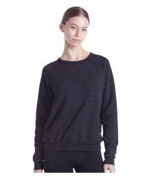 Ladies' Raglan Pullover Long Sleeve Crewneck Sweatshirt