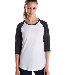 US Blanks US600 Womens Raglan Baseball Tee