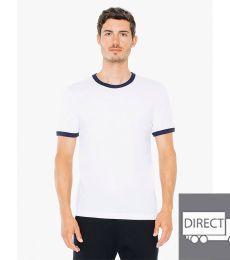BB410W Unisex Poly-Cotton Short-Sleeve Ringer T-Shirt