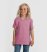 0235TC Tultex Youth Fine Jersey Tee Heather Cassis