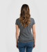 0244TC Tultex 244/Ladies' Poly-Rich Blend V-Neck T Heather Charcoal