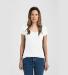 0244TC Tultex 244/Ladies' Poly-Rich Blend V-Neck T White