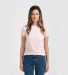 0240 Tultex Ladies Ultra Blend Tee  Heather Pink