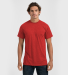 0241 Tultex Unisex Ultra Blend Tee  Heather Red