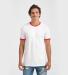 Tultex 246 / Unisex Fine Jersey Ringer Tee White/Red