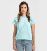 0202TC Tultex Unisex Tee with a Tear-Away Tag  Heather Purist Blue