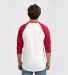 Tultex 0245TC Unisex Fine Jersey Raglan Tee White/Red