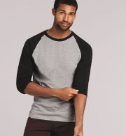 5700 Gildan Heavy Cotton Three-Quarter Raglan T-...