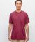 Los Angeles Apparel FF01 50/50 Poly Cotton Tee Heather Cranberry