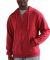 0331 Tultex 80/20 Unisex Zipper Hood  Heather Denim