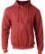 0331 Tultex 80/20 Unisex Zipper Hood  Heather Red