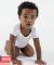 Los Angeles Apparel 40001 / Infant Baby Rib One Piece Heather Grey
