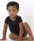 Los Angeles Apparel 40001 / Infant Baby Rib One Piece Black