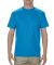 1701R Adult Ringspun Cotton T-Shirt Turquoise