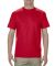 1701R Adult Ringspun Cotton T-Shirt Red