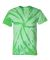Dyenomite 200TT Tone-on-Tone Pinwheel Short Sleeve T-Shirt Kelly