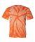 Dyenomite 200TT Tone-on-Tone Pinwheel Short Sleeve T-Shirt Orange