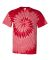 Dyenomite 20021 Tone-on-Tone Spiral T-Shirt Red