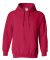 18500 Gildan Heavyweight Blend Hooded Sweatshirt CHERRY RED