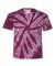 Dyenomite 20BTT Youth Tone-on-Tone Pinwheel Short Sleeve T-Shirt Maroon