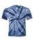 Dyenomite 20BTT Youth Tone-on-Tone Pinwheel Short Sleeve T-Shirt Navy